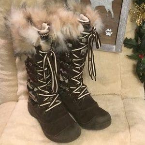 Muk Luks Gwen Women's Faux Suede Tall Snow Boots